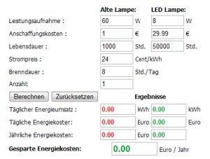 led tools stromrechner und lux candela lumen umrechner. Black Bedroom Furniture Sets. Home Design Ideas