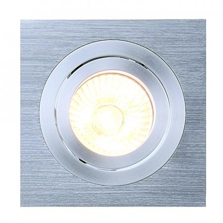 SLV 111361 NEW TRIA I GU10 Downlight, eckig, alu brushed, max. 50W, inkl. Clipfedern