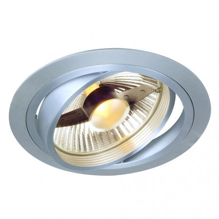 SLV 111380 NEW TRIA ES111 Downlight, rund, alu brushed, GU10, max. 75W, inkl. Blattfedern