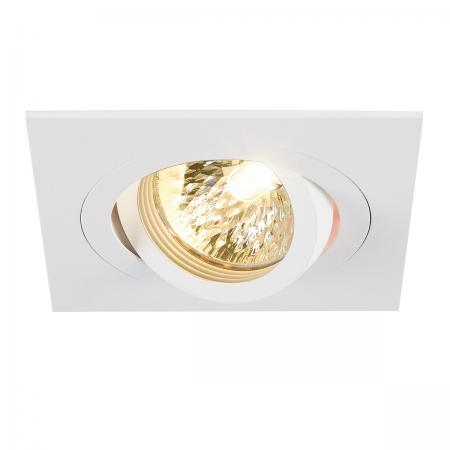 SLV 113501 NEW TRIA I MR16 Downlight, eckig, mattweiss, max. 50W, inkl. Clipfedern