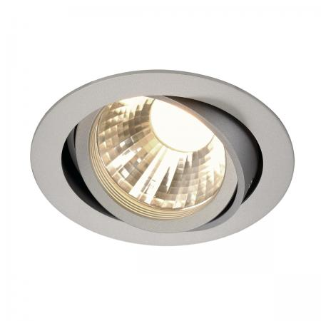 SLV 113584 NEW TRIA LED DISK Downlight, rund, silbergrau, 2700K, 35°