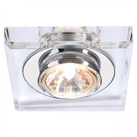 SLV 114920 CRYSTAL I Downlight, eckig, chrom/Kristall klar, MR16, max. 35W