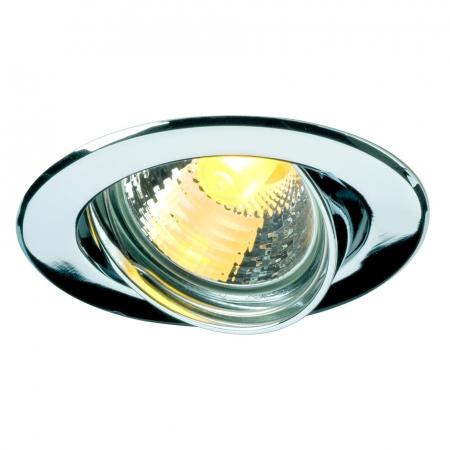 SLV 116112 GU10 SP Downlight, rund, chrom, max. 50W