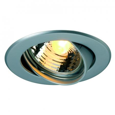SLV 116118 GU10 SP Downlight, rund, chrom matt, max. 50W