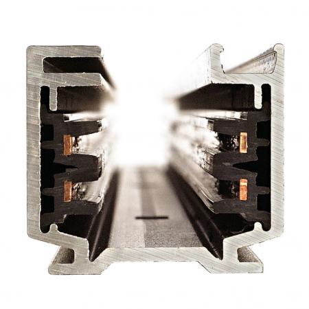 elektrisch EUTRAC Längsverbinder schwarz für 3-Phasen Schiene