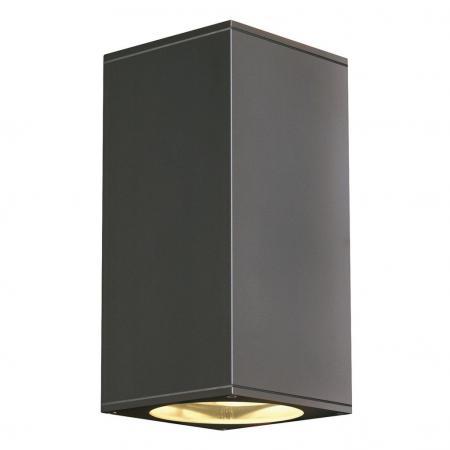 slv 229575 big theo up down out wandleuchte gu10 eckig anthrazit a. Black Bedroom Furniture Sets. Home Design Ideas