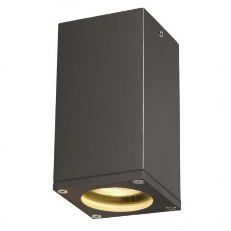 slv 229585 theo ceiling out deckenleuchte gu10 eckig anthrazit a. Black Bedroom Furniture Sets. Home Design Ideas