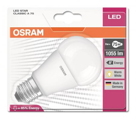 osram led star classic a75 9w 4000k a. Black Bedroom Furniture Sets. Home Design Ideas