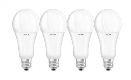 4 x Osram LED Superstar CLA150 21W E27 dimmbar warmweiß 2500 Lumen wie 150W