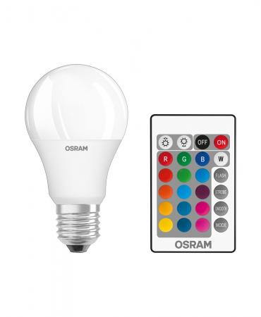 OSRAM LED BASE RGBW Remote A60 E27 dimmbar LED Lampe mit FB wie 60W