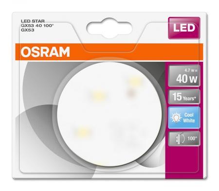 osram led star gx53 40 100 4000k neutralwei 40w. Black Bedroom Furniture Sets. Home Design Ideas