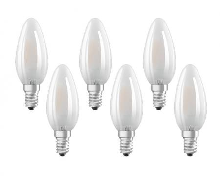 OSRAM LED STAR B40 E14 Matt 4W=40W 2700K 6er-PACK A++