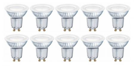 10er-PACK OSRAM LED BASE PAR16 GU10 4.3W=50W 120° 2700K LED Strahler Germany