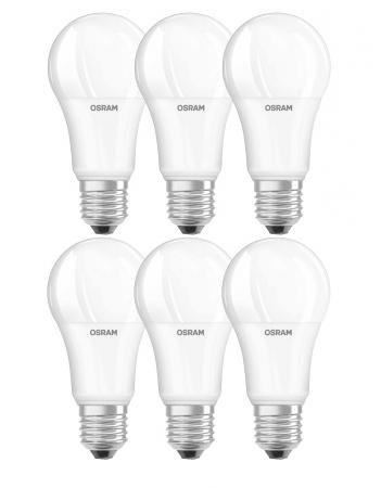 6x Osram LED BASE A100 E27 Warmweiß LED Lampe wie 100W Glühbirne
