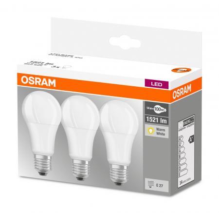 osram led base a100 e27 14w warmwei 2700k 3er pack. Black Bedroom Furniture Sets. Home Design Ideas