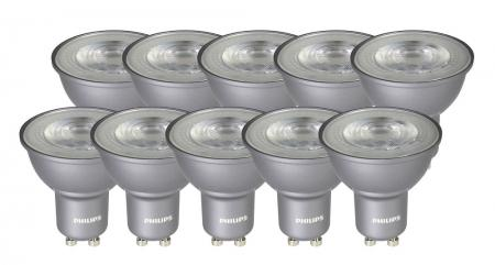 10er Pack Philips MASTER LEDspotMV Value D 4.3-50W GU10 40D 2700K dimmbar wie 50W A++