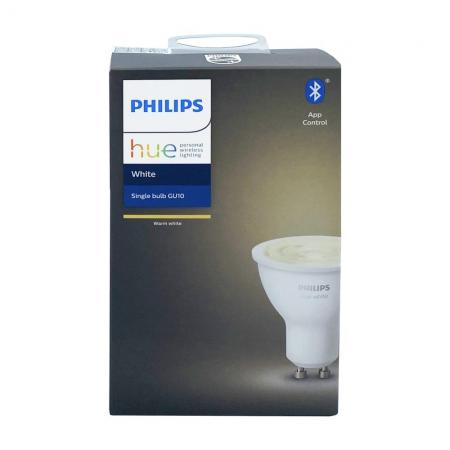Philips Hue White GU10 LED Leuchtmittel warmweiss dimmbar Bluetooth