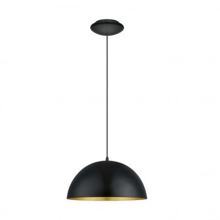 eglo 94935 gaetano 1 e27 h ngeleuchte schwarz gold eek a e. Black Bedroom Furniture Sets. Home Design Ideas