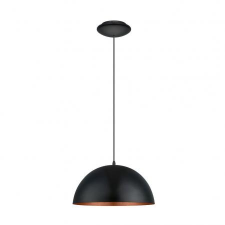 eglo 94937 gaetano 1 e27 h ngeleuchte schwarz kupfer eek a e. Black Bedroom Furniture Sets. Home Design Ideas