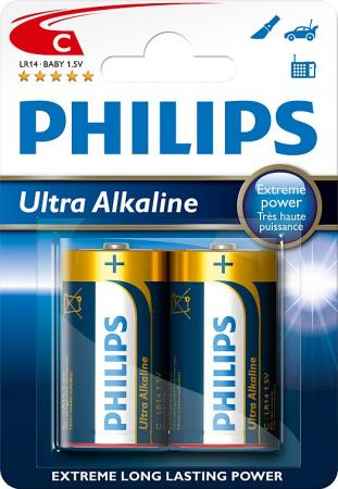 PHILIPS C Ultra Alkali 2er Pack Batterie LR14E2B/10