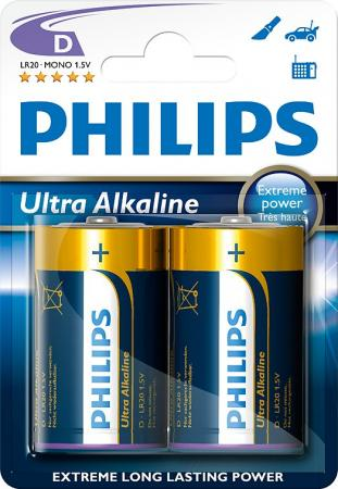 PHILIPS D Ultra Alkali 2er Pack Batterie LR20E2B/10