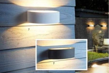 Mylight LED Wandleuchte Up & Down Light IP54 dimmbar in anthrazit