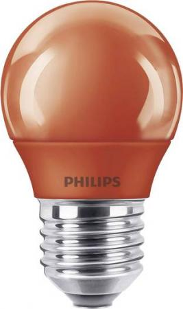 PHILIPS LED Colored Red E27 P45 3.1W Tropfenlampe Lichtfarbe: Rot
