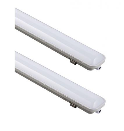 2 x Osram SubMARINE LED integrated 1200 Feuchtraumleuchte 36W 4000K IP65 Damp Proof