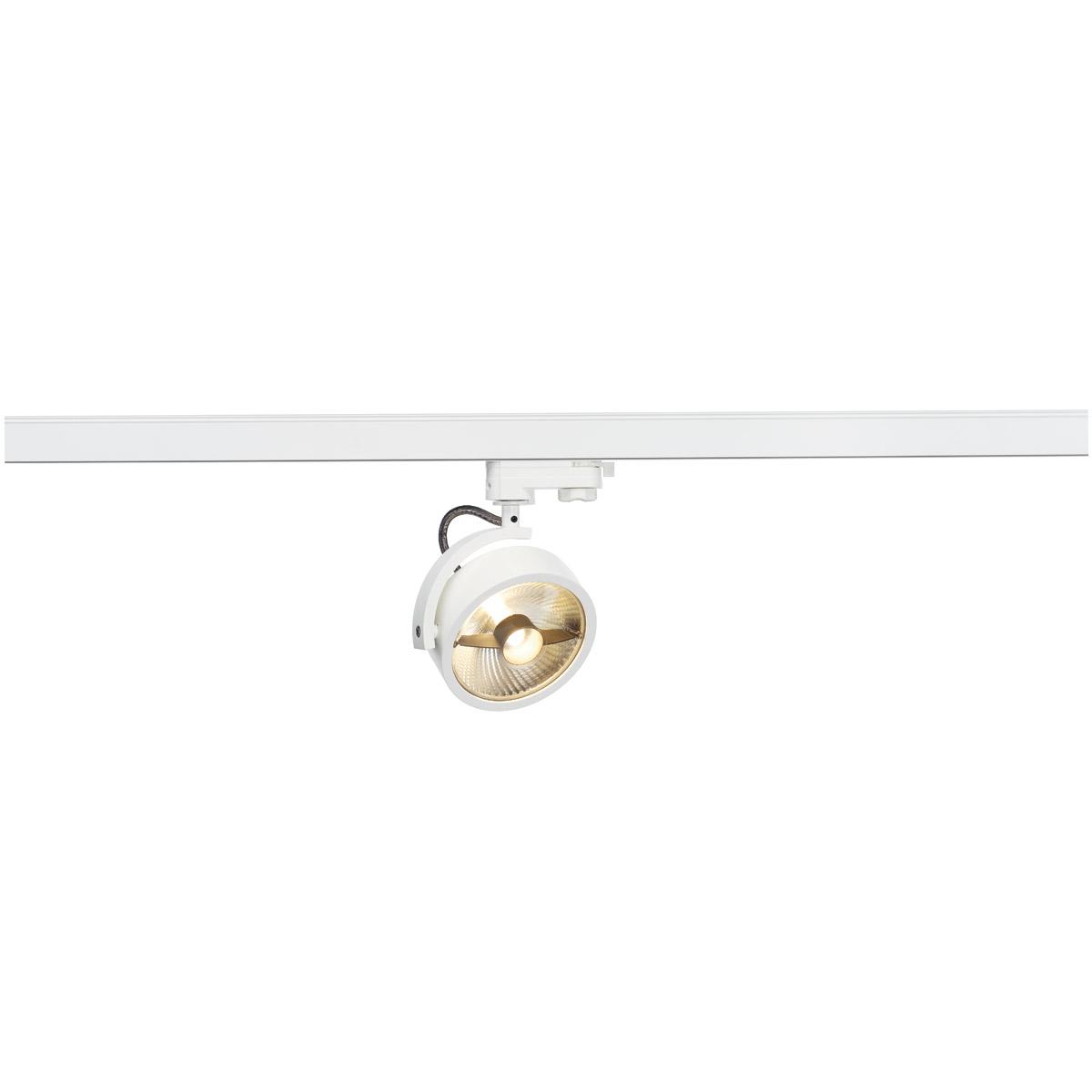 slv 152611 kalu track qpar111 leuchten kopf weiss inkl 3p adapter. Black Bedroom Furniture Sets. Home Design Ideas