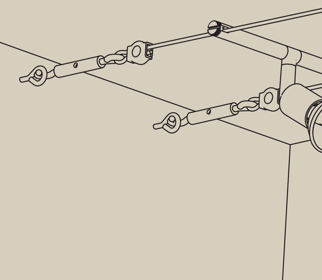 Wire System Light/&Easy Spann-Montageset nicht isoliert Chrom Metall