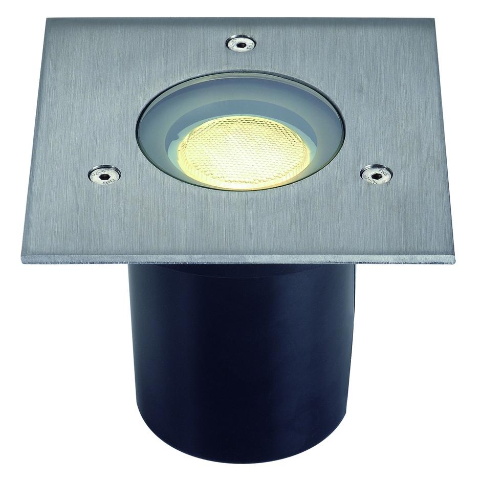 slv 228214 adjust gu10 einbaustrahler eckig edelstahl. Black Bedroom Furniture Sets. Home Design Ideas