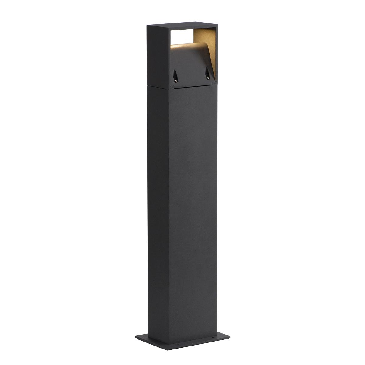 slv 232125 logs 70 stehleuchte eckig anthrazit 6w led warmweiss. Black Bedroom Furniture Sets. Home Design Ideas