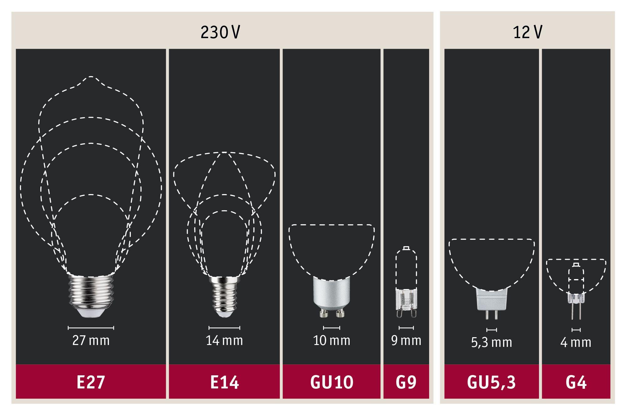 Paulmann 28430 LED 3er-Pack Reflektor 6,5W GU10 230V 2700K