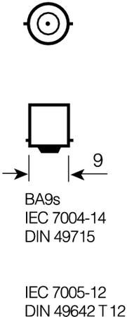 OSRAM 64111 Original 12V 5W Metallsockel Faltschachtel BA9s Innenbeleuchtung