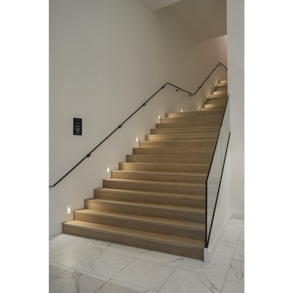Treppen Einbauleuchte Rechteckig DOWNUNDER PUR inkl. LED 9,9W ...