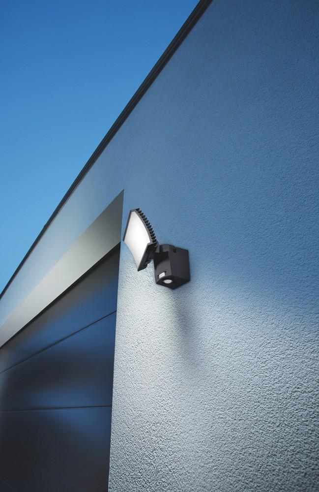 osram noxlite led hp floodlight 41106 23w gr grau flutlicht mit sensor wie 100w. Black Bedroom Furniture Sets. Home Design Ideas