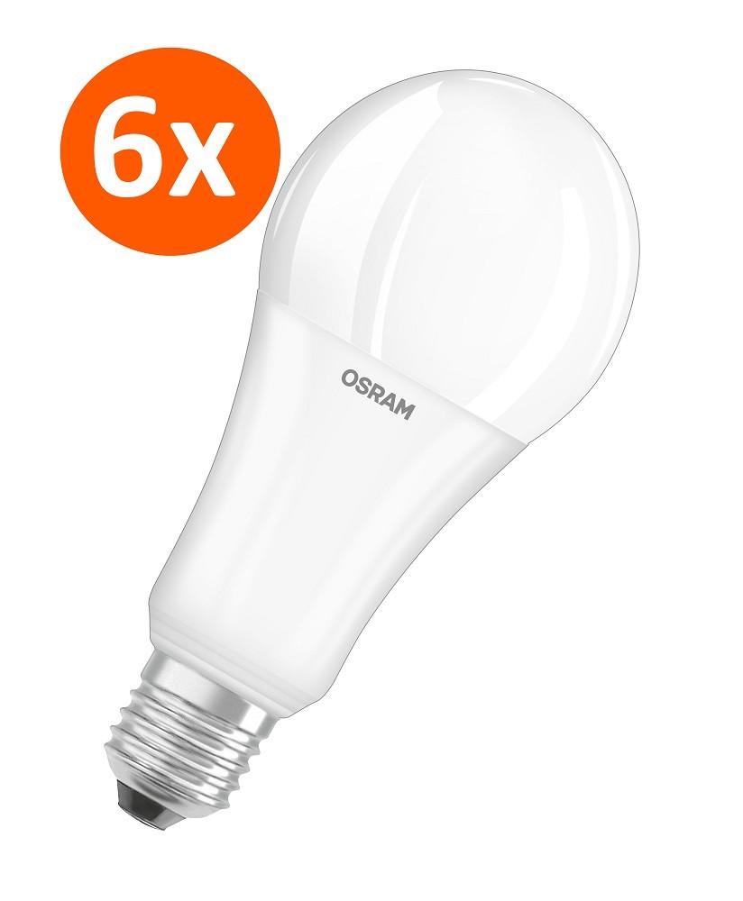 6 x OSRAM LED STAR A150 2700K Warmweiß LED Lampe 20W wie 150W