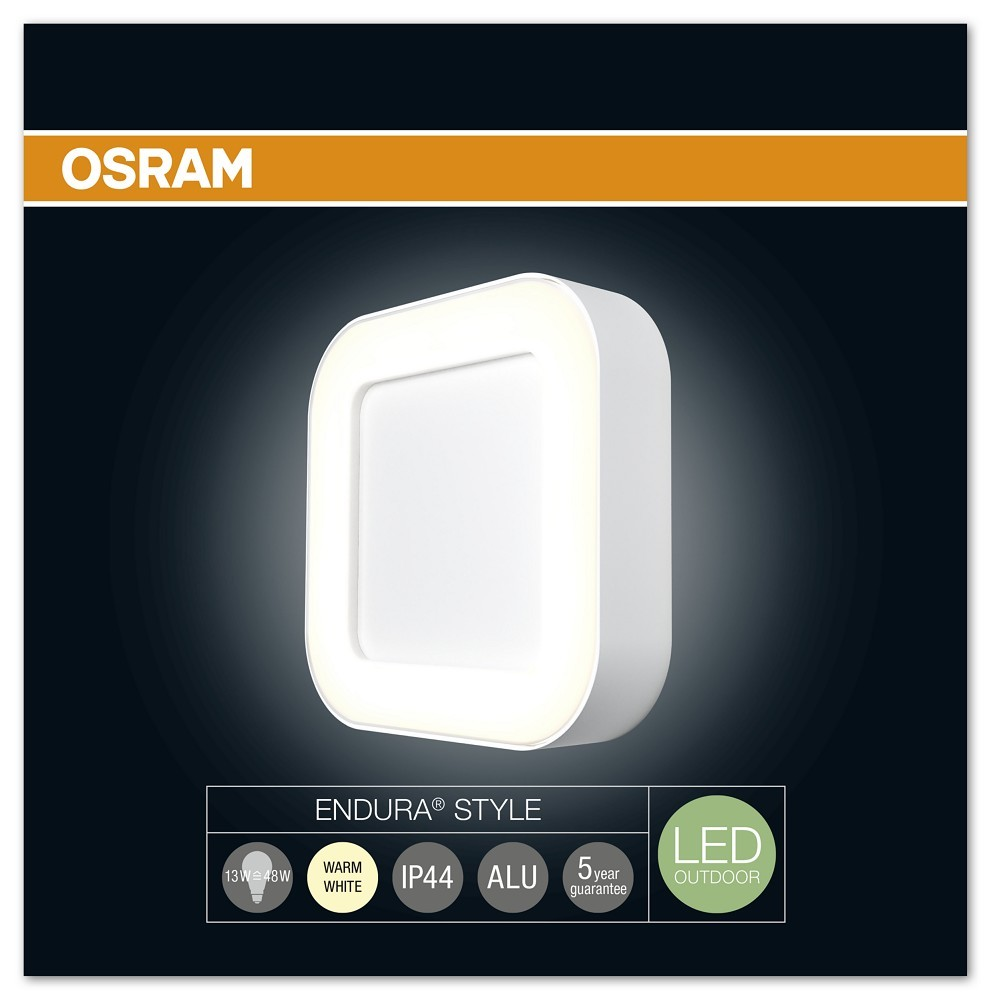 osram endura style square 13w wei. Black Bedroom Furniture Sets. Home Design Ideas