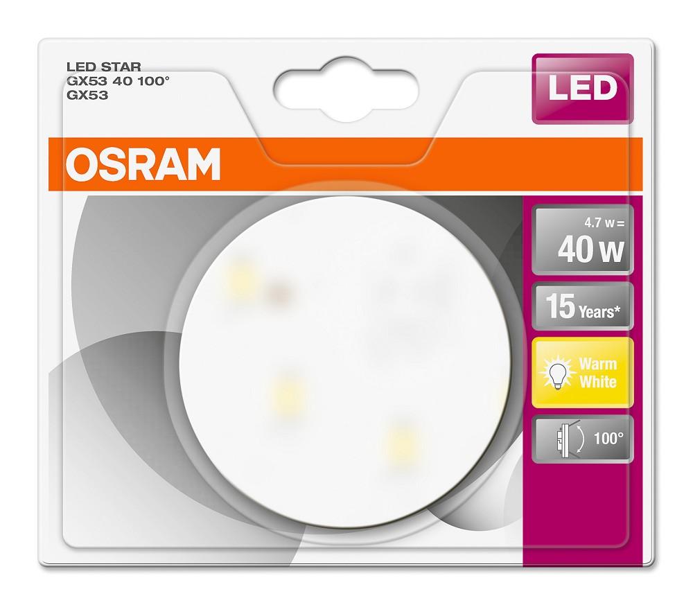 osram led star gx53 40 100 2700k warmwei 40w. Black Bedroom Furniture Sets. Home Design Ideas