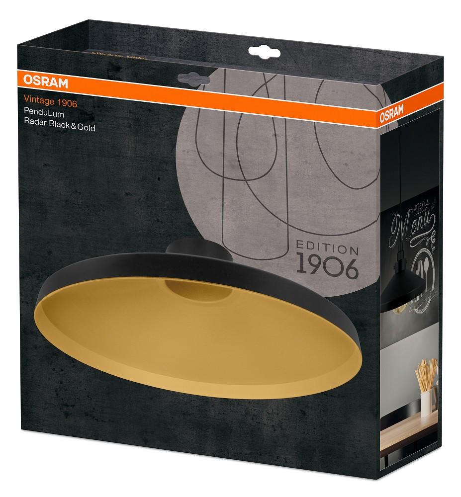 osram vintage edition 1906 pendulum radar schwarz gold. Black Bedroom Furniture Sets. Home Design Ideas