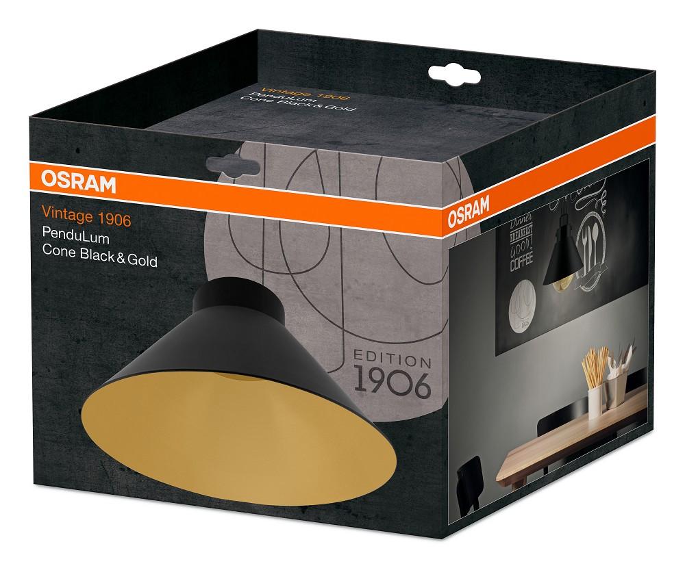osram vintage edition 1906 pendulum cone schwarz gold. Black Bedroom Furniture Sets. Home Design Ideas