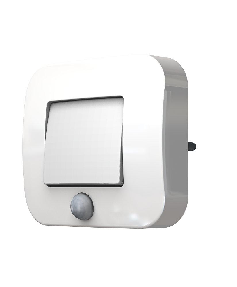 LEDVANCE LED Nachtlicht, Leuchte für Innenanwendungen, Tag Nacht Sensor, Warmweiß, 60,0 mm x 60,0 mm x 90,0 mm, LUNETTA Shine