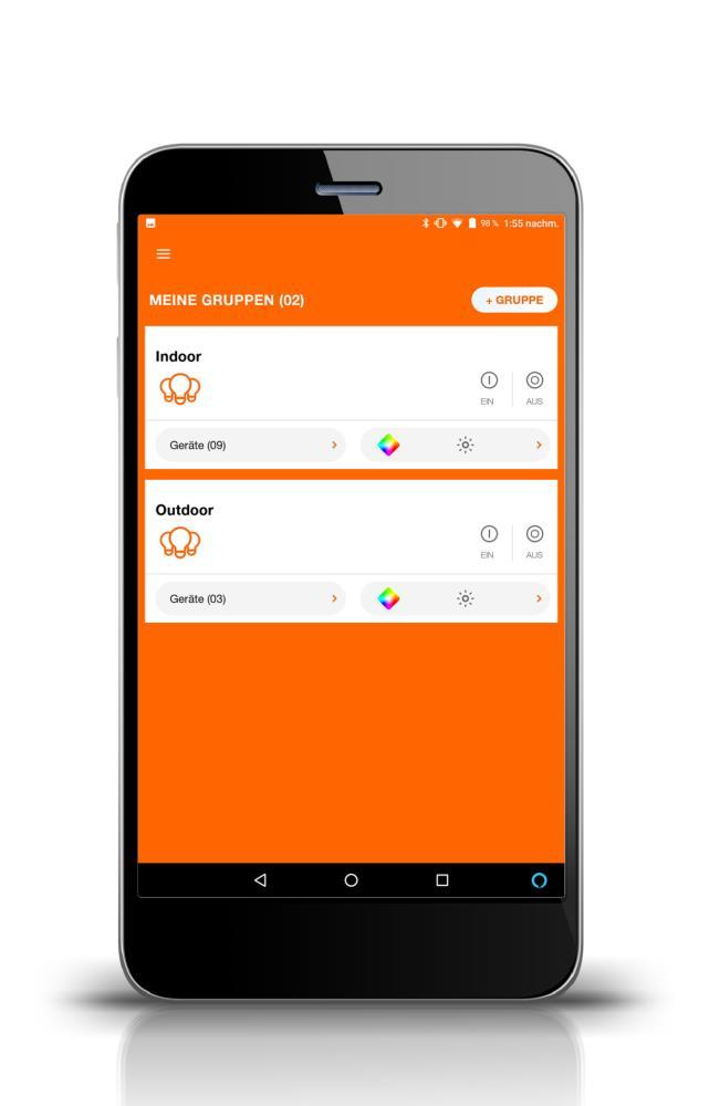 Wei/ß Fernbedienung mit WiFi Technologie zum Steuern und Dimmen von kompatiblen SMART Ledvance SMART WiFi Produkten 4058075526938