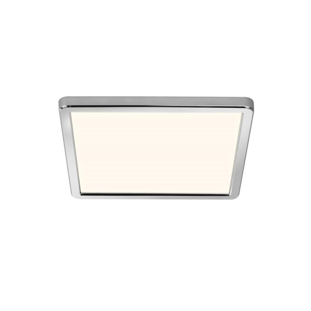 LED Bad Deckenleuchte eckig & flach schaltbar 20cm schaltbar chrom
