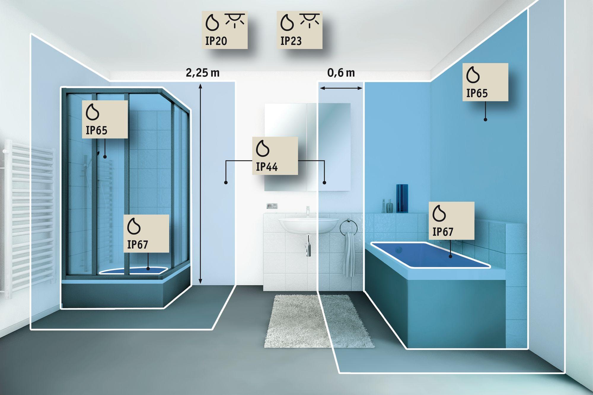 Sensor gesteuerte LED Badezimmer Deckenleuchte Leonis von Paulmann ...