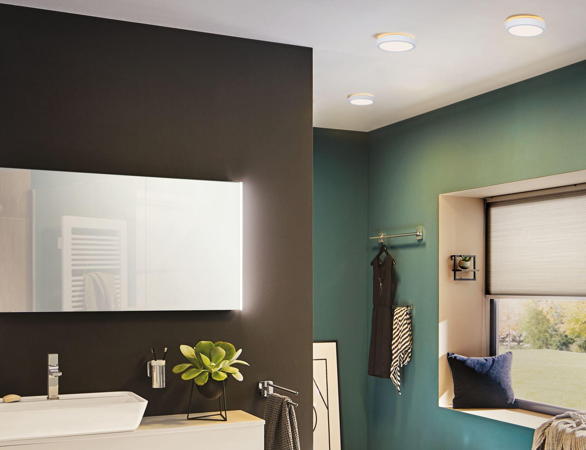 Universell einsetzbare LED Deckenlampe Aviar 20cm Weiß mit IP20 ...