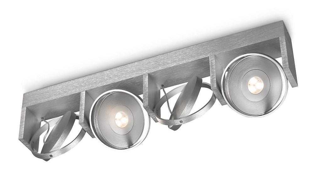 philips ledino 53154 48 16 led deckenleuchte 4 x 7 5w drehbar aluminium. Black Bedroom Furniture Sets. Home Design Ideas