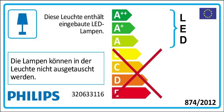 PHILIPS myBathroom COOL 320633116 LED-Deckenleuchte IP44 Badezimmer