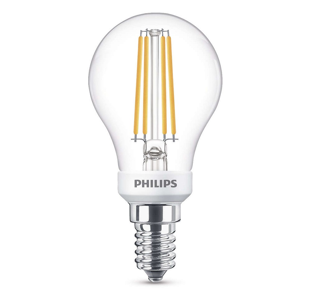 470 lumen philips ledclassic p45 filament e14 tropfen dimmbar 5w 360 2700k klar wie 40w. Black Bedroom Furniture Sets. Home Design Ideas