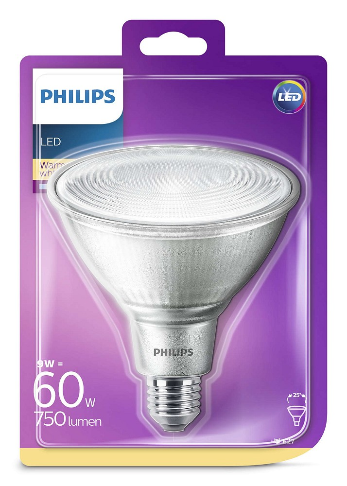 philips led par38 e27 reflektor 9w 25 2700k wie 60w. Black Bedroom Furniture Sets. Home Design Ideas